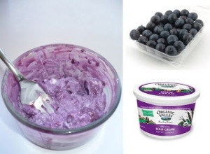 Natural Beauty DIY-Sour cream blueberry Facial Mask-WellTemple.com